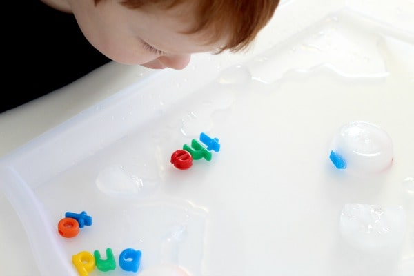 Teaching sight words to kids with play.