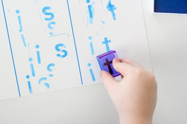 Stamping sight words activity
