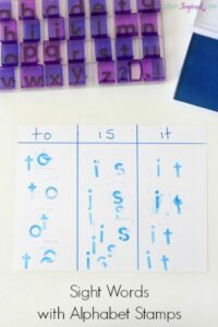 Sight Words with Alphabet Stamps