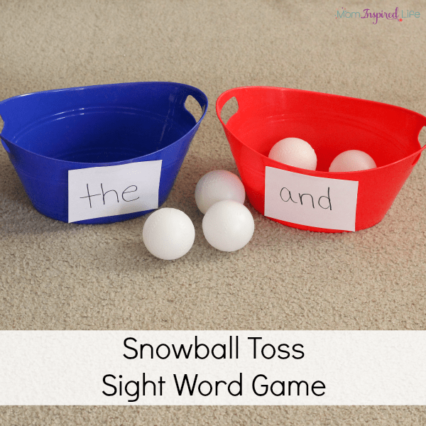 Teaching sight words with a fun winter sight words game!