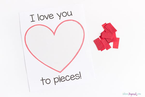 I Love You To Pieces Valentine S Day Craft Activity