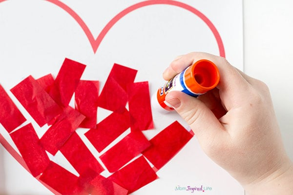 I love you to pieces craft for preschool.