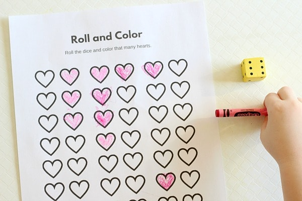 Valentine's Day party game. A heart game for kids.