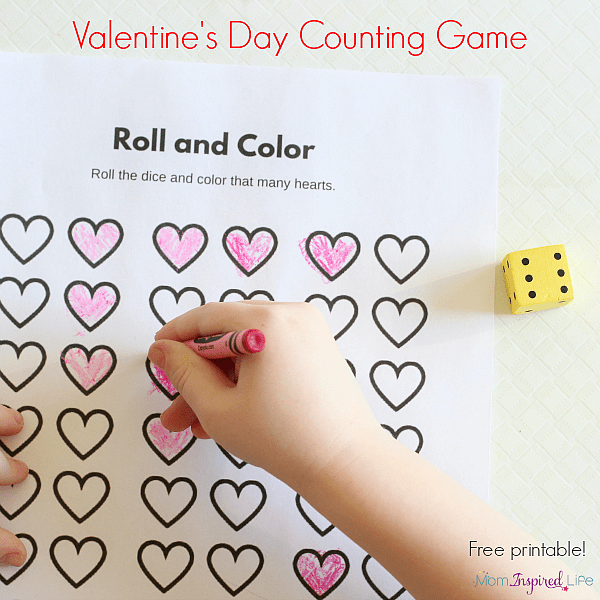 Valentine's Day Counting Game. A fun party game for preschool!