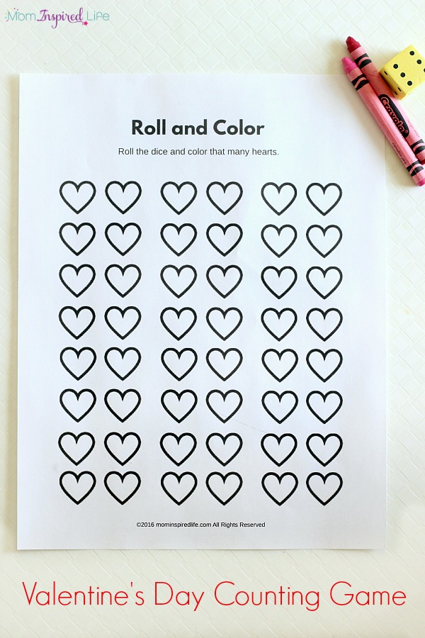 Valentineu0027s Day Counting Game. A Party Game For Preschoolers. Kids Will  Love This Printable