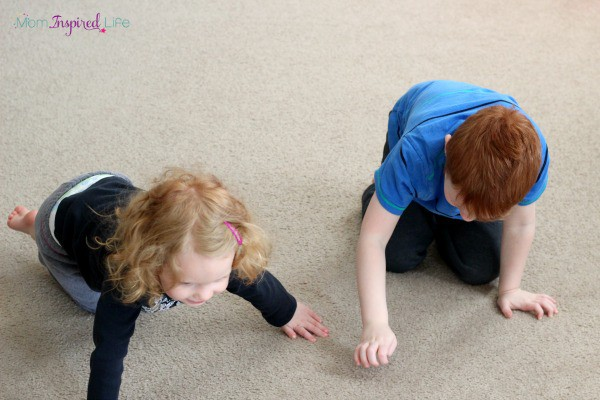 Indoor movement activities for kids. Gross motor activities and games.