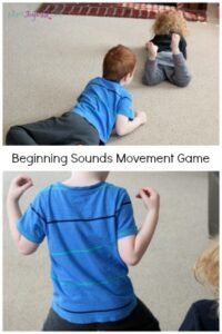Beginning sounds movement game. A gross motor literacy activity that will have kids moving and learning!