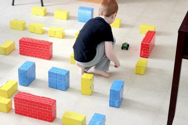 Building block activities for kids.