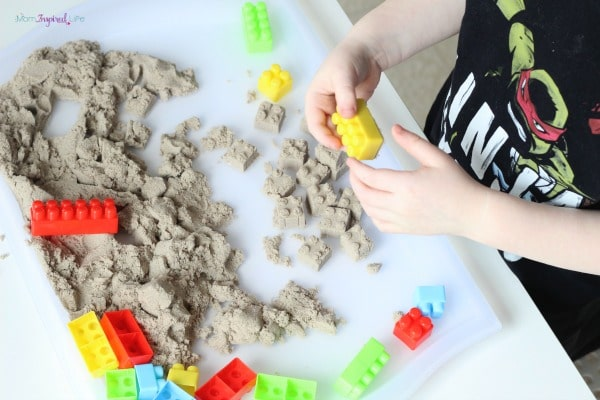 Kinetic sand engineering activity.