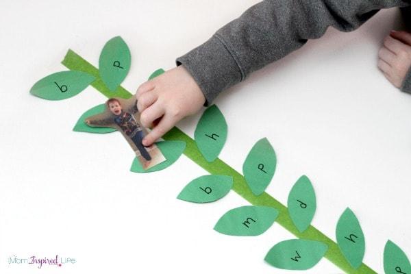 A fun alphabet activity to go with a preschool fairy tale theme.