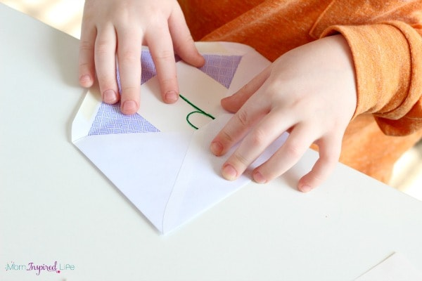 Mailing alphabet letters. A fun pretend play activity!