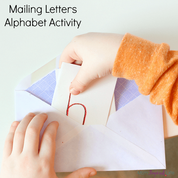 Mailing Letters Alphabet Activity. A fun way to learn the alphabet and letter sounds!