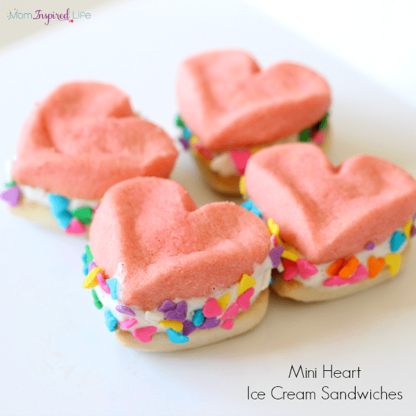 Valentine's Day heart treat. A super simple ice cream treat for kids.