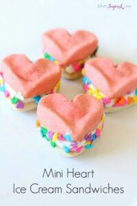 Mini Heart Ice Cream Sandwiches