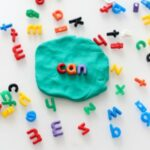 Play Dough and Alphabet Beads Activity