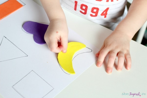 Shape puzzle activity for toddlers