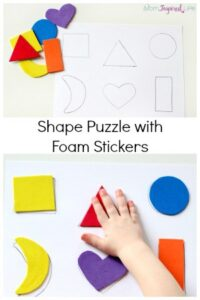 Shape Puzzle with Foam Stickers