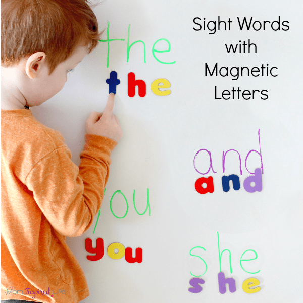 Hands-on sight word activity that helps kids spell and read sight words.