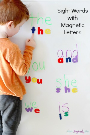 words with letters spelling sight words with magnetic letters 25763 | Spelling sight words with magnetic letters activity feature