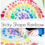 Sticky Shape Rainbow Activity