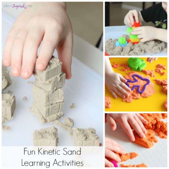 Fun things to do with kinetic sand. Hands-on learning activities!