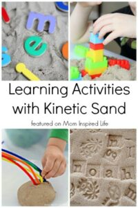 Fun Learning Activities to do with Kinetic Sand