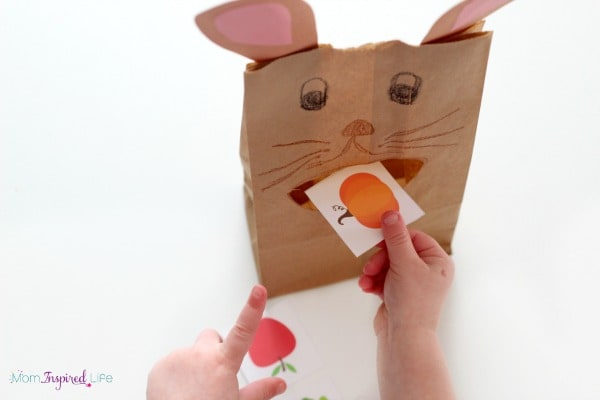 The Tale of Peter Rabbit activity for teaching letters, letter sounds, colors, counting and nutrition!