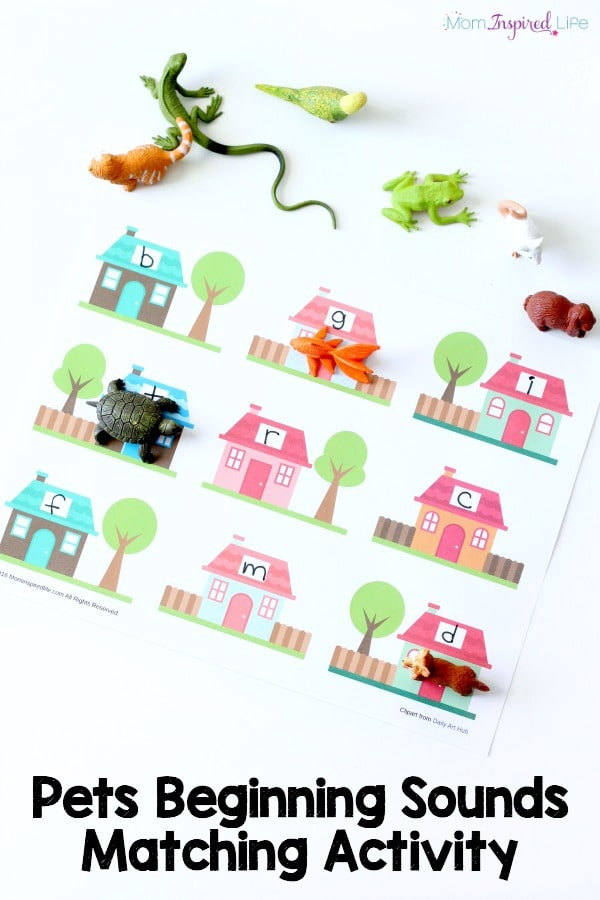 Pets activity that helps kids practice identifying beginning letter sounds. Pairs perfectly with What Pet Should I Get?