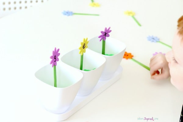 A hands-on activity that uses alphabet flowers to work on CVC words and word families.