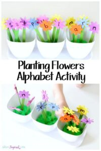 Planting Flowers Alphabet Activity