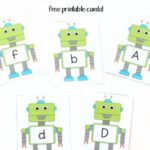 Robot Alphabet Card Games and Activities