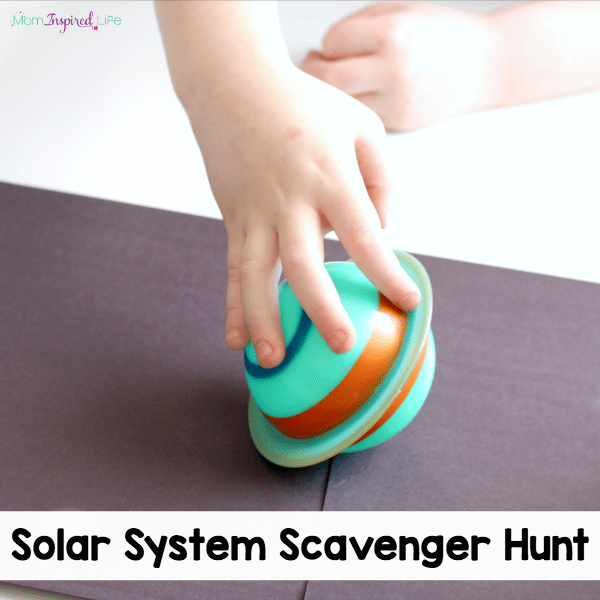 My kids absolutely loved this solar system scavenger hunt that teaches kids about the planets and outer space!