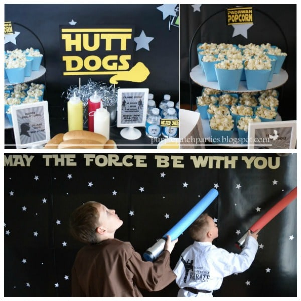Star Wars party food and Star Wars party games