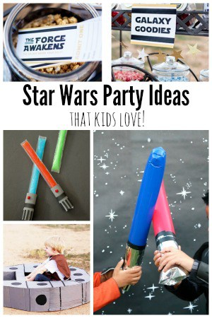 Star Wars: The Force Awakens birthday party ideas for kids. Games, food, decorations and more!