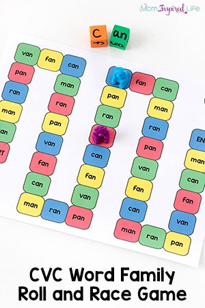 This CVC word family game is a fun and effective way for kids to learn word families and begin to read CVC words. It's a hands-on literacy activity that will engage your kids while you teach them to read.