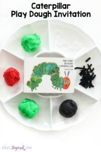 Caterpillar Play Dough Invitation