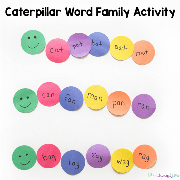 These word family sorting caterpillars are such a fun way to teach rimes to kids.