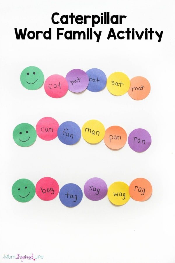 Caterpillar Word Family Activity