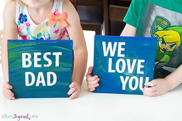 Father's Day sticker resist paintings that even young kids can make!