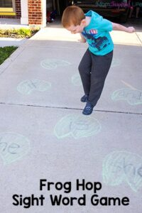 This frog sight word game is a great way for preschool and kindergarten students to practice reading sight words in a fun and active way! A great gross motor activity as well!