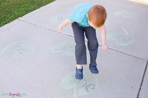 Hop like a frog and learn sight words at the same time! This sight word game is perfect for spring and summer.