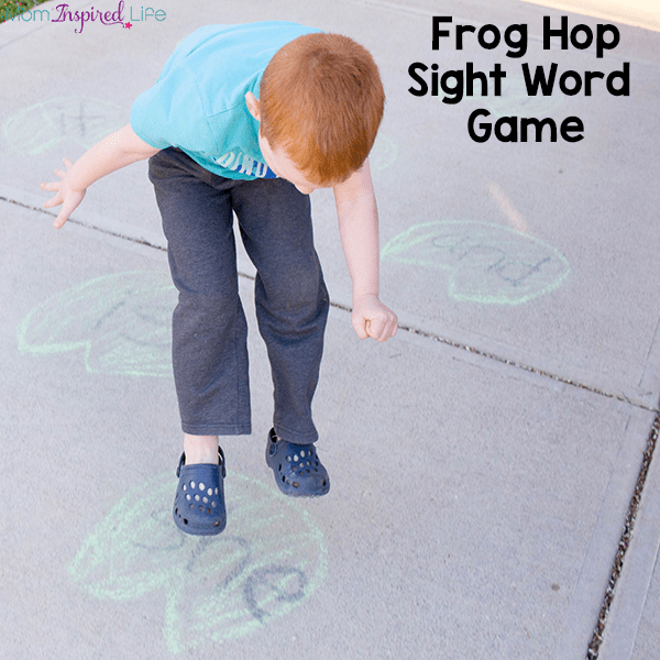 This frog hop sight word game is such a fun for kids to learn to read sight words!