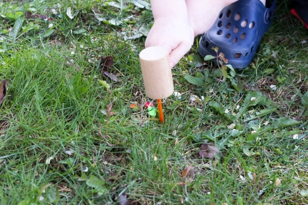 Hammer activity for young kids. A fun hands-on fine motor and gross motor activity!