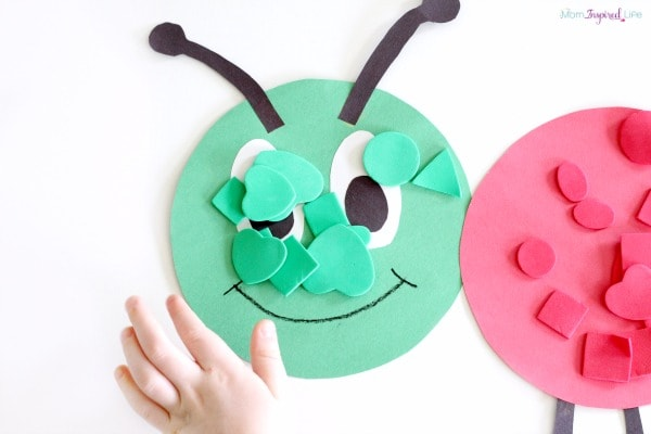 Learning colors with a fun, hands-on color sorting caterpillar!