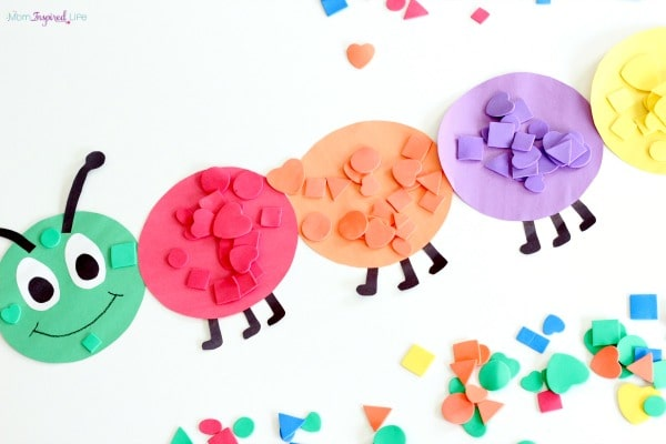 Color sorting caterpillar activity that is perfect for your spring lesson plans!