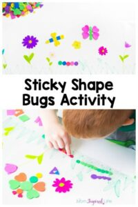 Sticky Shape Bugs Activity