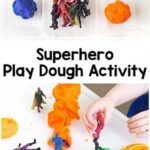 Superhero Play Dough Activity