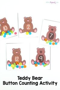 Teddy Bear Button Counting Activity