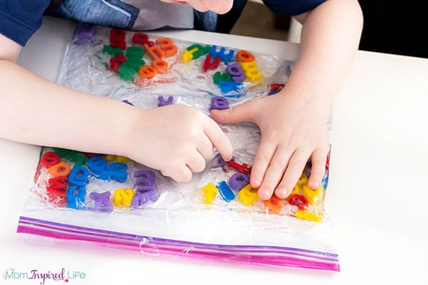Kindergarten alphabet sensory activity that is sure to engage kids! A fun way to learn the alphabet!