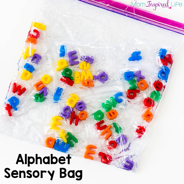 This alphabet sensory bag is such a neat, hands-on way to teach kids the alphabet! I also love that older children can use it to spell sight words!